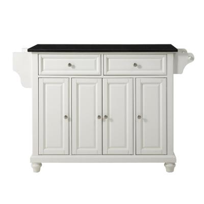 Cambridge White Kitchen Island with Granite Top