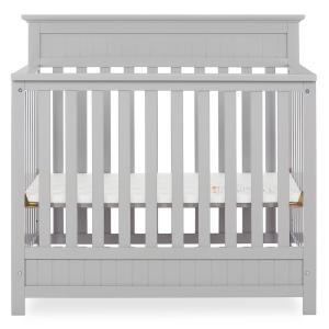 Harbor 4-in-1 Pebble Grey Convertible Mini Crib