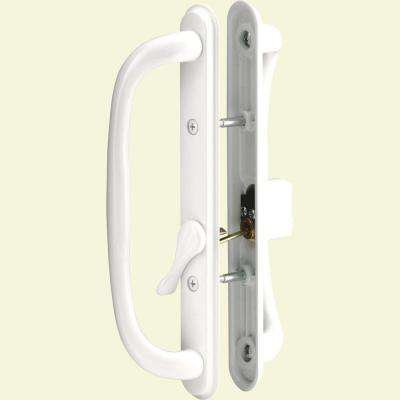 Sliding Door Handle Set, 10 in. Pull, Keyed White