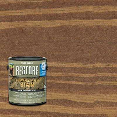 1 gal. Semi-Transparent Stain Russet with NeverWet