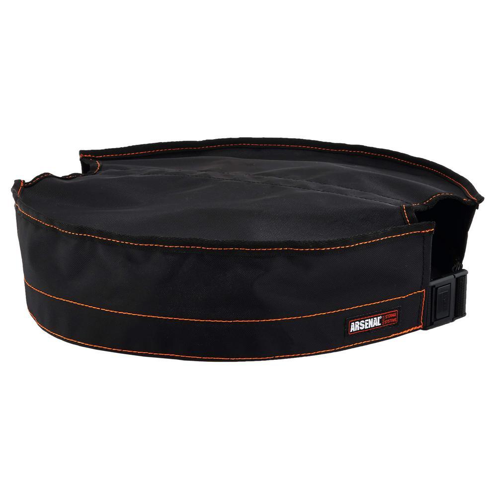 ERGODYNE 5937 Bucket Top,Black,16u0022 L x 16u0022 W x 2u0022 H