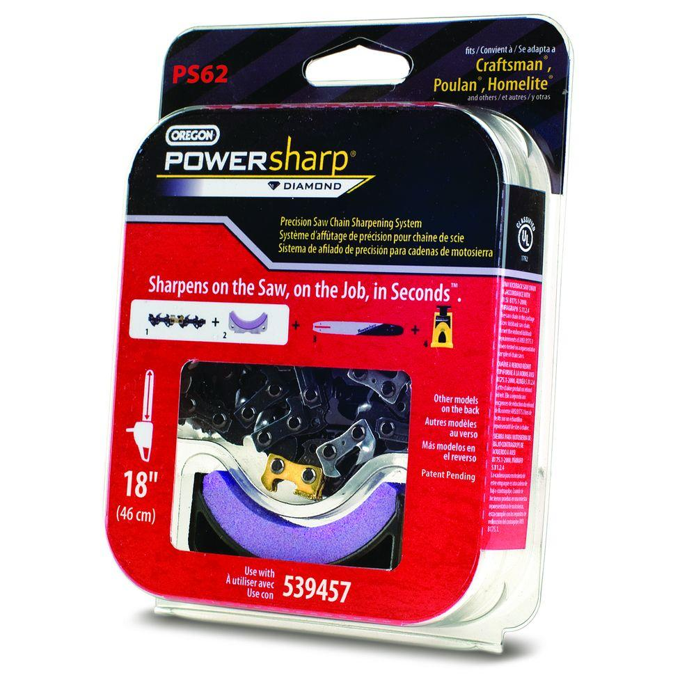 PowerSharp 18 in. Chainsaw Chain and Stone