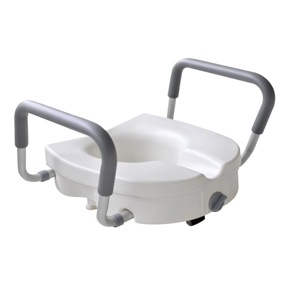 Glacier Bay 1-Piece Adjustable Elevated Toilet Seat in White Color ...
