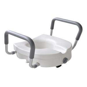Glacier Bay 1 Piece Adjustable Elevated Toilet Seat In