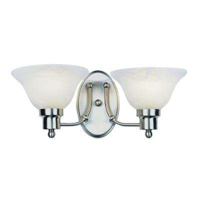 Stewart 2-Light Brushed Nickel Incandescent Sconce