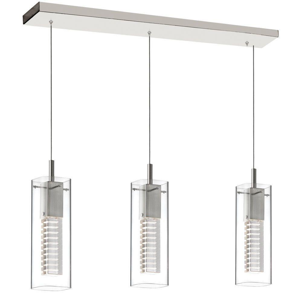 Filament Design Catherine 3-Light Satin Chrome Pendant
