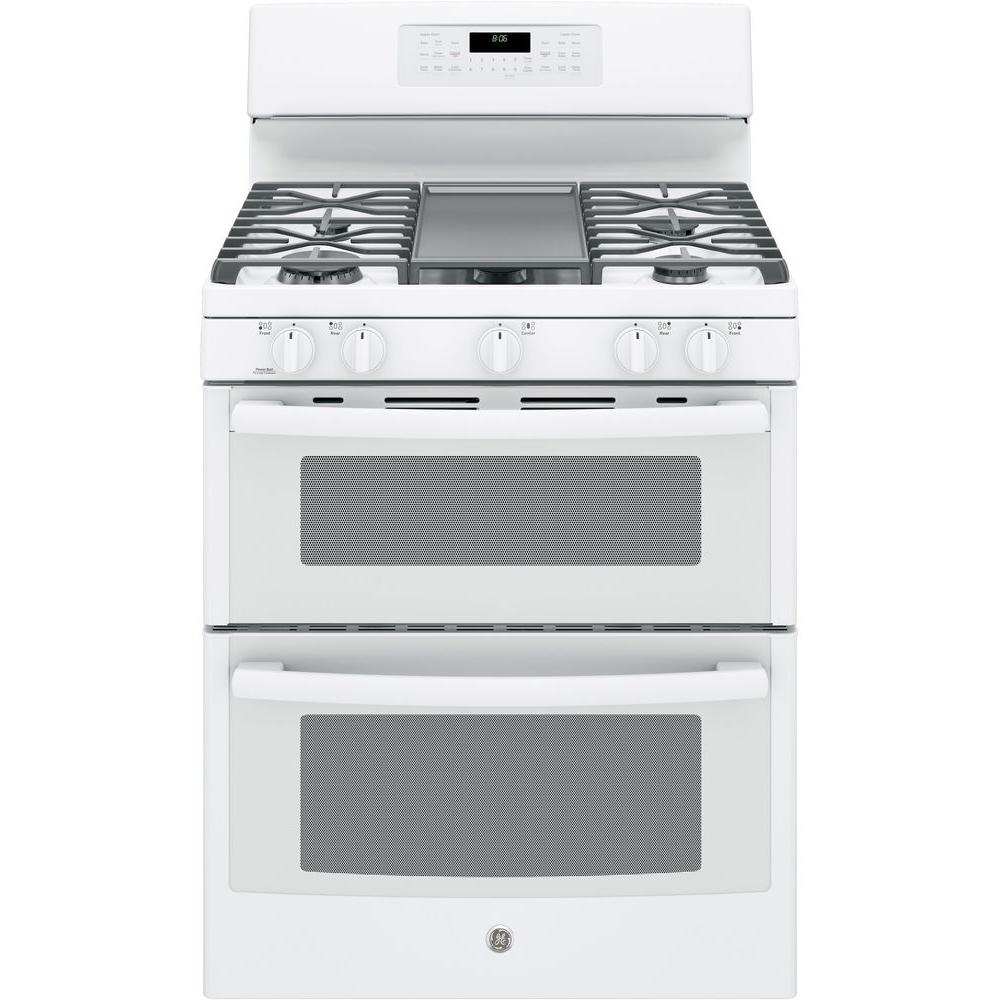 Ge 6 8 Cu Ft Double Oven Gas Range With Self Cleaning And Convection