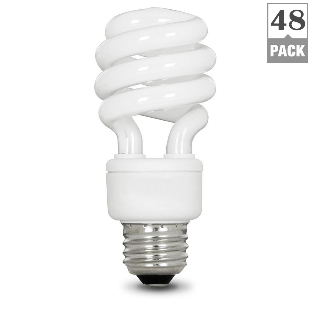 Feit Electric 60w Equivalent Soft White 2700k Spiral Cfl Light Bulb 48 Pack Esl13t 12 4