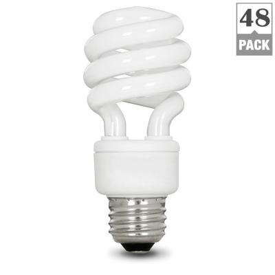 60-Watt Equivalent Soft White (2700K) Spiral CFL Light Bulb (48-Pack)