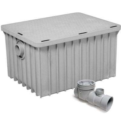 Endura Grease Interceptor 35 GPM 31 in. L Thermoplastic Grease Trap with Flow Control Device