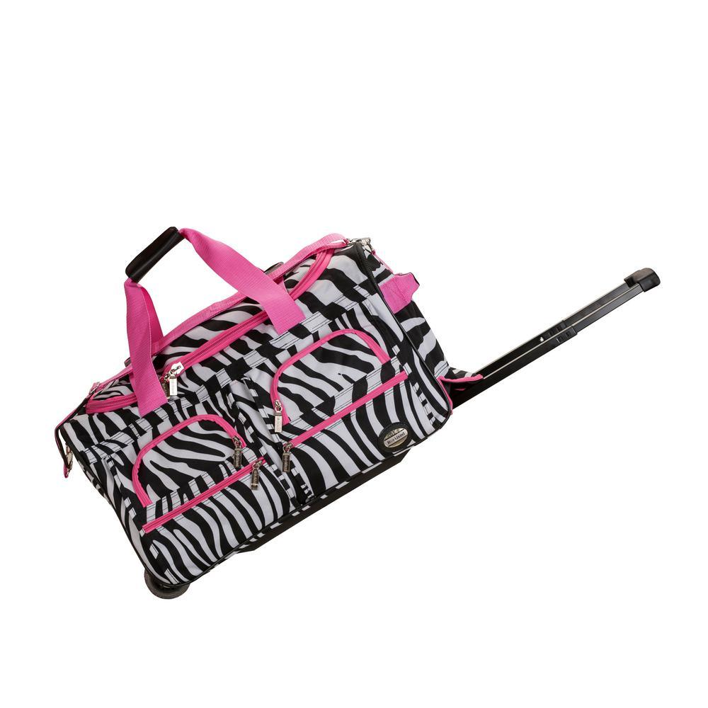 Rolling Duffle Bag Pinkzebra