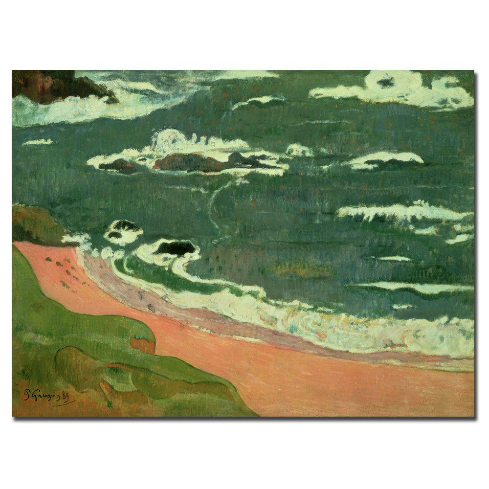 18 in. x 24 in. Beach at Le Pouldu 1889 Canvas