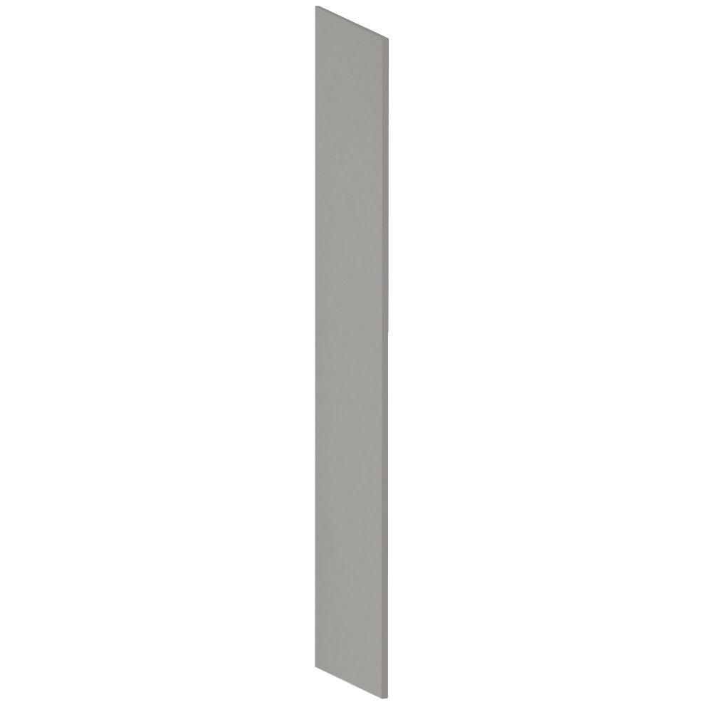 Salsbury Industries Heavy Duty Plastic Side Panel with Sloping Hood for Heavy Duty Plastic Locker in Gray
