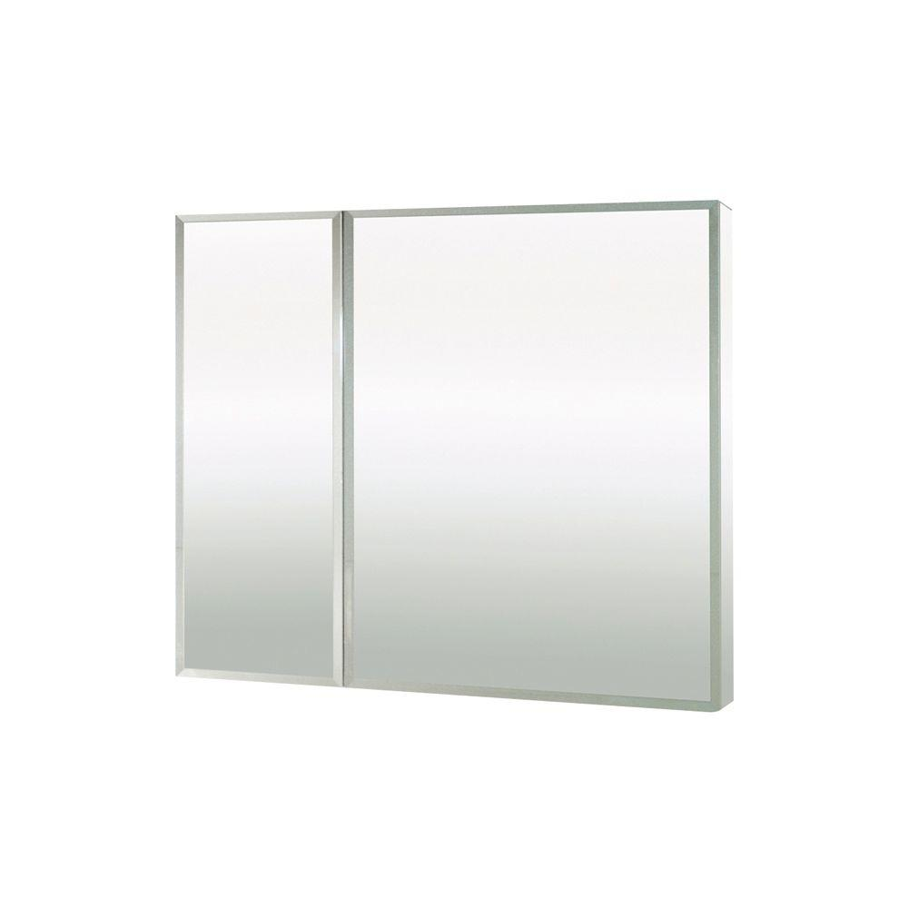 MAAX Evolution 30 in. x 26 in. Mirrored Recessed or Surface Mount Medicine Cabinet in White
