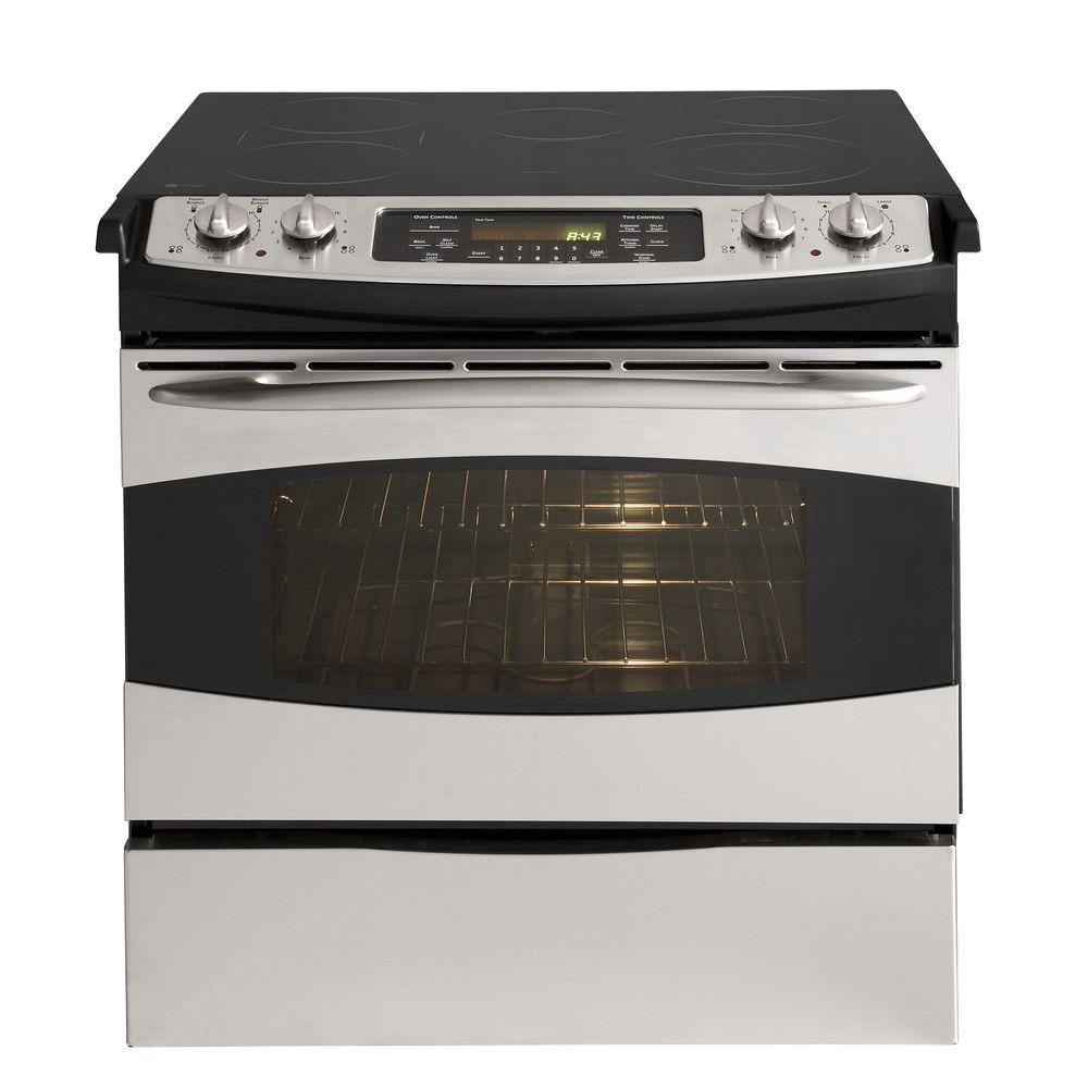 GE Profile 4.4 cu. ft. Slide-In Electric Range with Self-Cleaning Oven in Stainless Steel