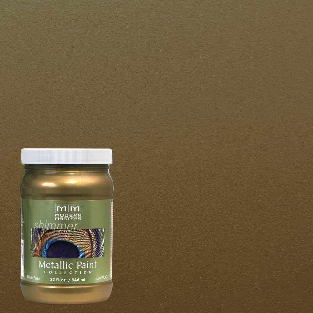 Ordinaire Green Gold Water Based Satin Metallic Interior/Exterior Paint