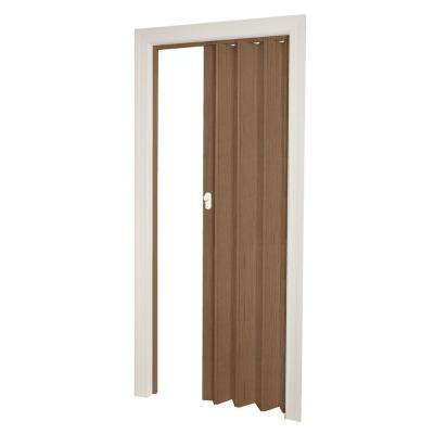 36 in. x 80 in. Woodbridge Vinyl Nutmeg Accordion Door