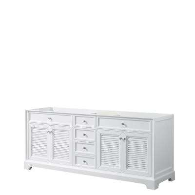 Tamara 80.5 in. Double Bathroom Vanity Cabinet Only in White