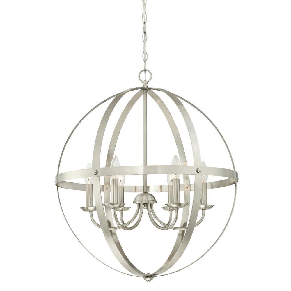 Westinghouse Stella Mira 6 Light Brushed Nickel Chandelier