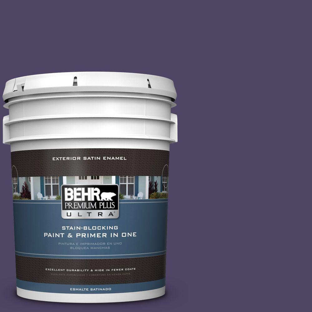BEHR Premium Plus Ultra 5-gal. #S-H-650 Berry Charm Satin Enamel Exterior Paint