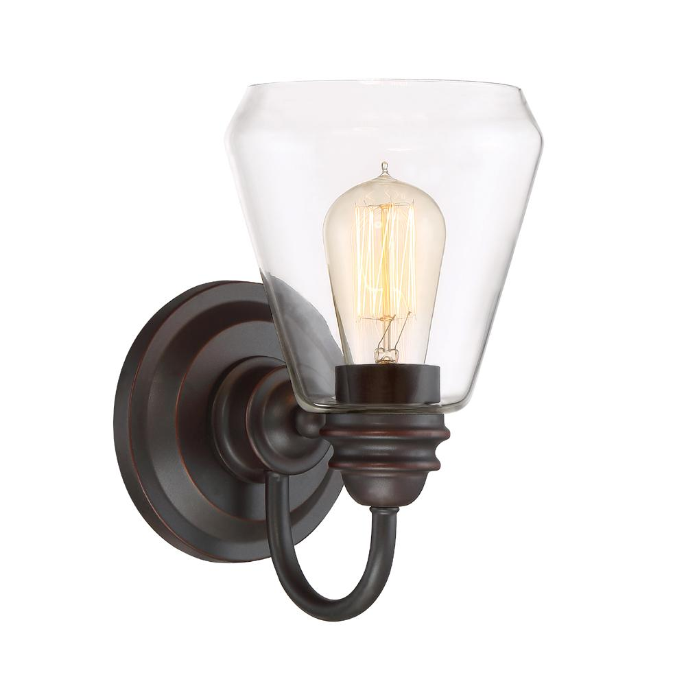 Foundry 1-Light Satin Bronze Wall Sconce