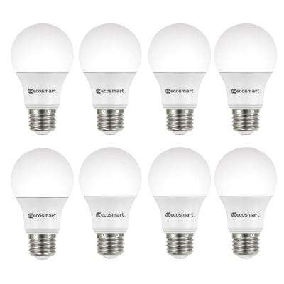 60-Watt Equivalent A19 Non-Dimmable CEC LED Light Bulb Soft White (8-Pack)