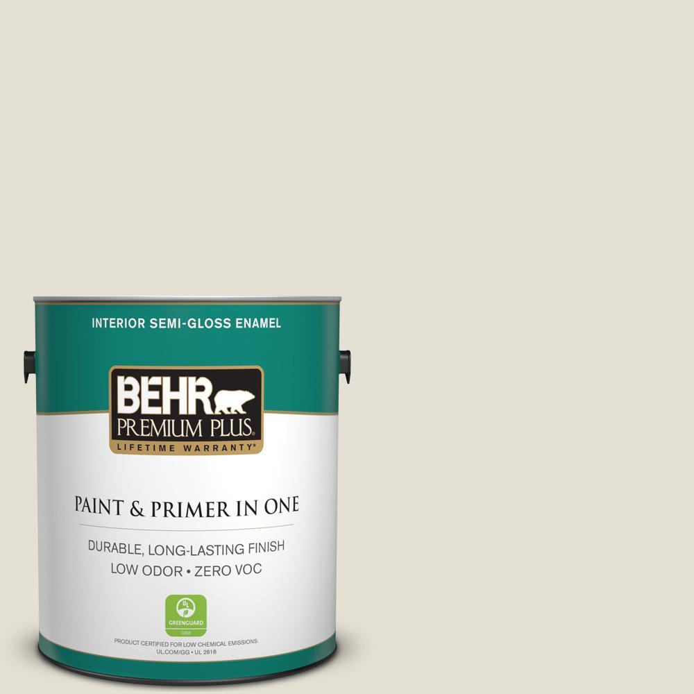 1-gal. #N310-1 Sand Drift Semi-Gloss Enamel Interior Paint