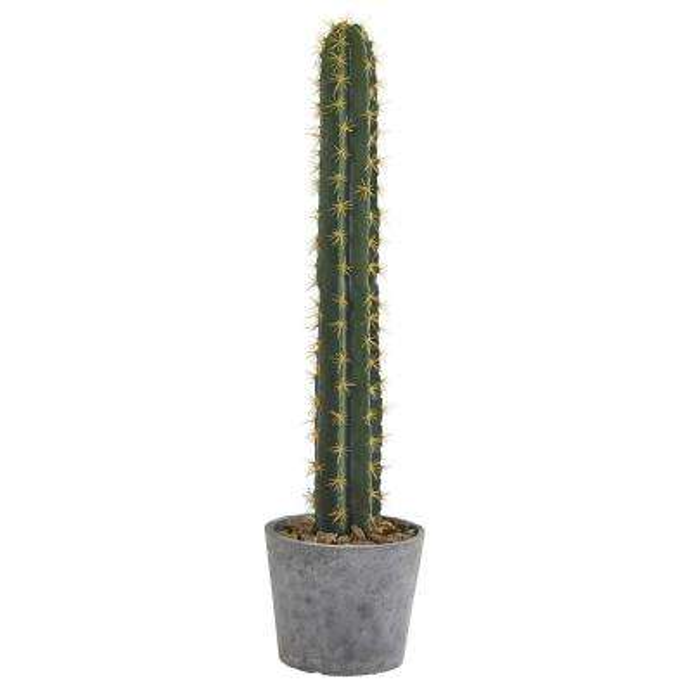 41 in. Cactus in Stone Planter Artificial Plant