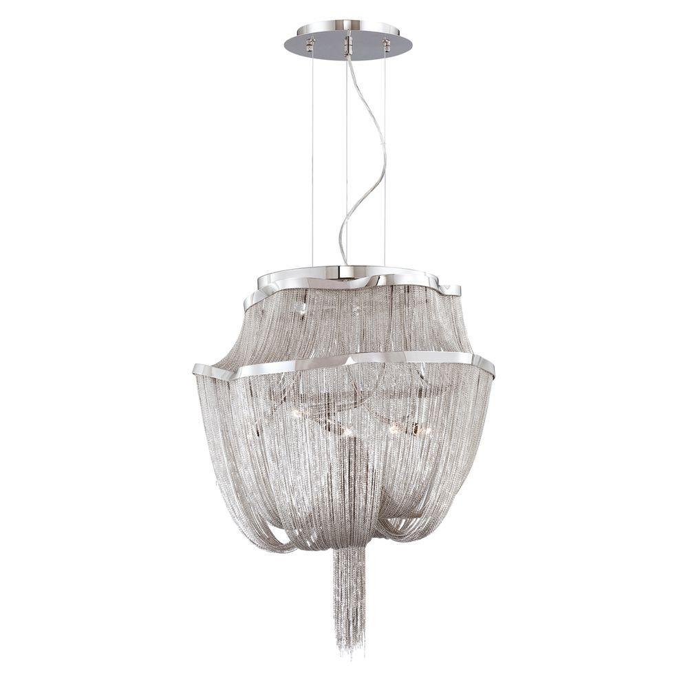 Eurofase Cadena Collection 5-Light Nickel Pendant-DISCONTINUED