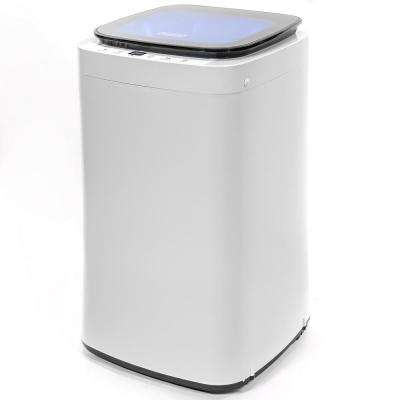 0.65 cu. ft. Compact Mini High-Efficiency Top Load Washing Machine with 9 Automatic Programs and LED Display in White