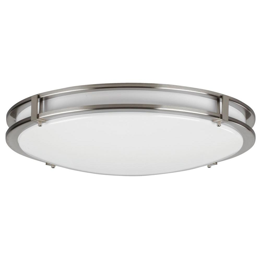 Radionic Hi Tech Orly 4-Light Satin Nickel Flushmount