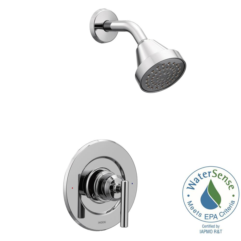 MOEN Gibson 1-Handle Posi-Temp Shower Only Faucet Trim Kit in Chrome ...