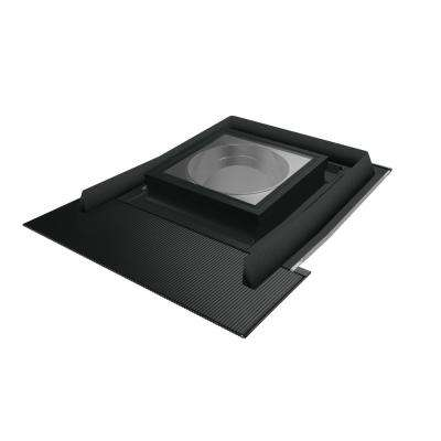 SRH-L 22 in. Flat Glass Tubular Skylight with Rigid Light Tunnel and Integrated High-Profile Step Flashing