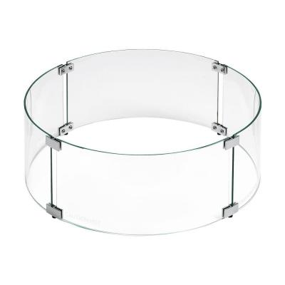 Tempered Glass Flame Guard for 25 in. Round Drop-in Fire Pit Pan