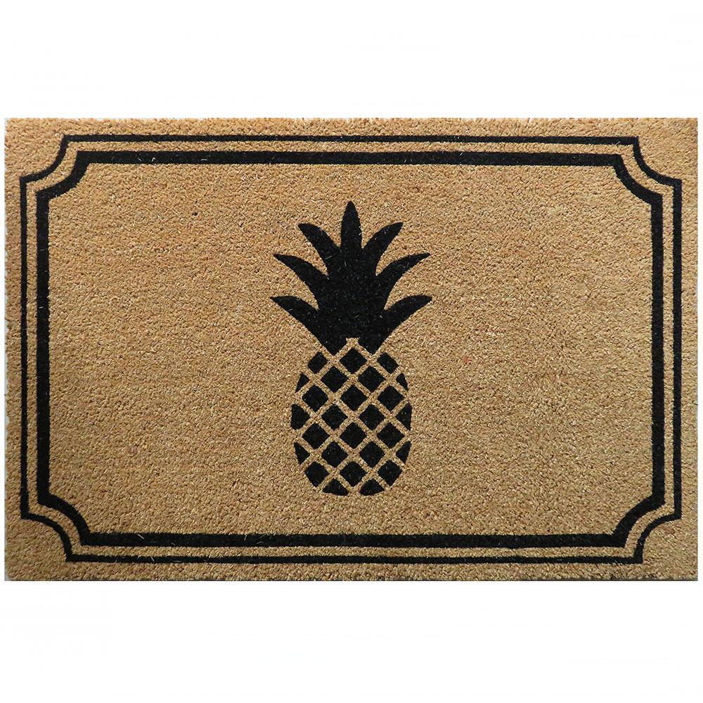 Entryways Pineapple 36 In X 24 In Slip Resistant Coir