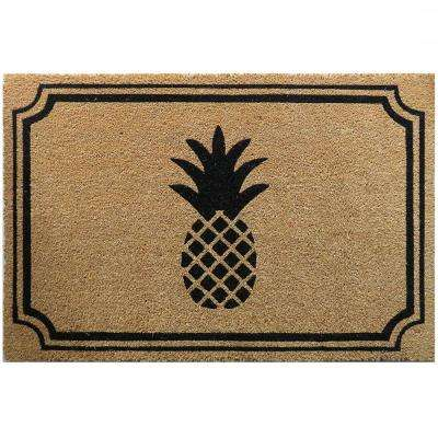 Pineapple 36 in. x 24 in. Slip Resistant Coir Door Mat
