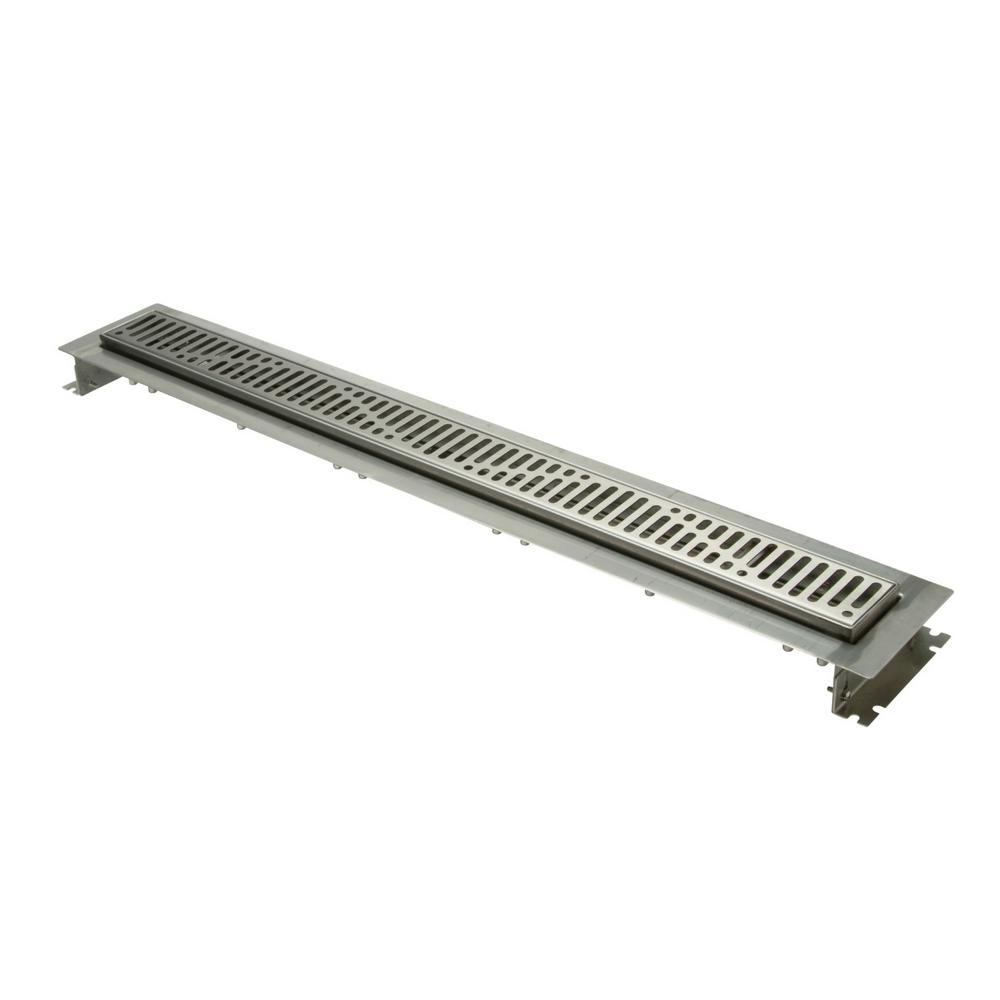 Zurn 28 in  Stainless Steel Linear Shower Drain with Wave Grate
