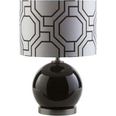 Antoni 19.25 in. Solid Black Indoor Table Lamp