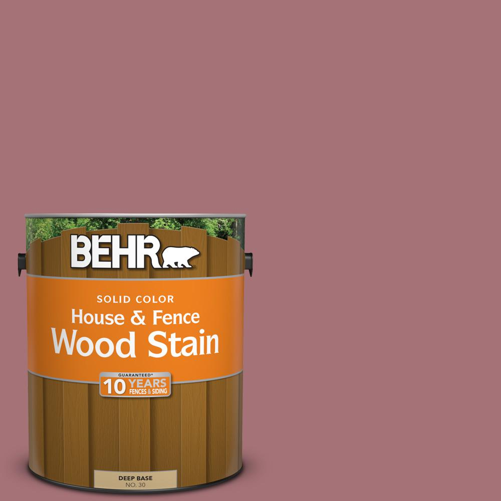 Behr 1 Gal S130 5 Heirloom Rose Solid Color House And Fence