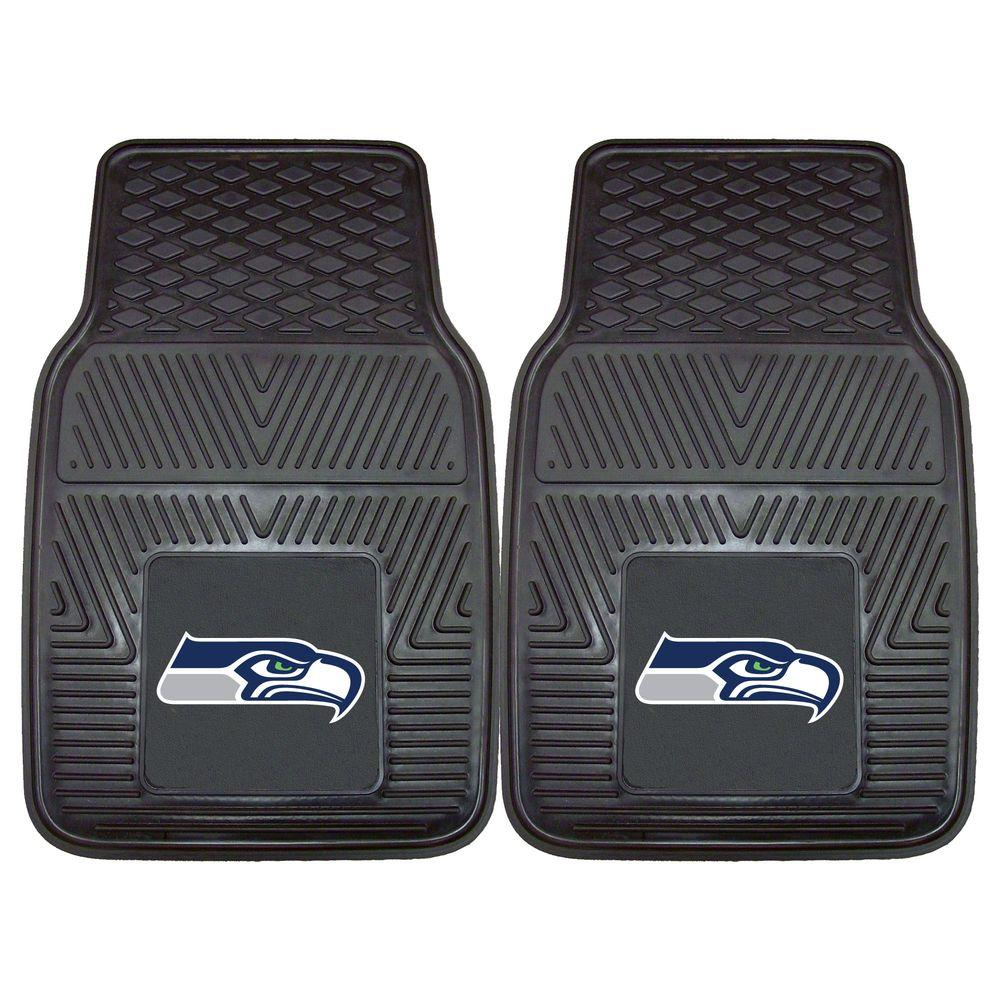 FANMATS Seattle Seahawks 18 in. x 27 in. 2-Piece Heavy Duty Vinyl Car Mat