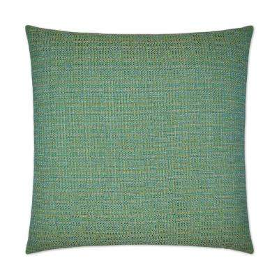 Jackie-O Aqua Feather Down 24 in. x 24 in. Decorative Throw Pillow