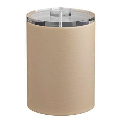 Contempo 2 Qt. Beige Tall Ice Bucket with Thick Lucite Lid