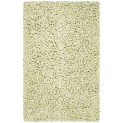 Classic Shag Lime 3 ft. x 5 ft. Area Rug