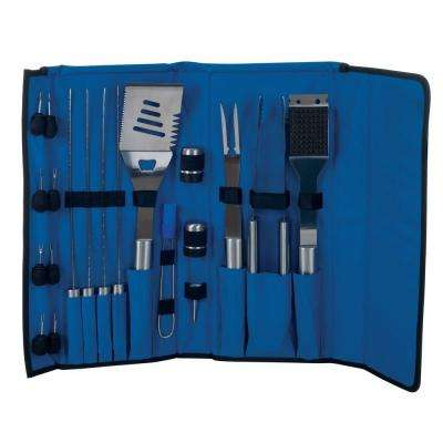 20-Piece Stainless Steel Grill Tool Set with Case