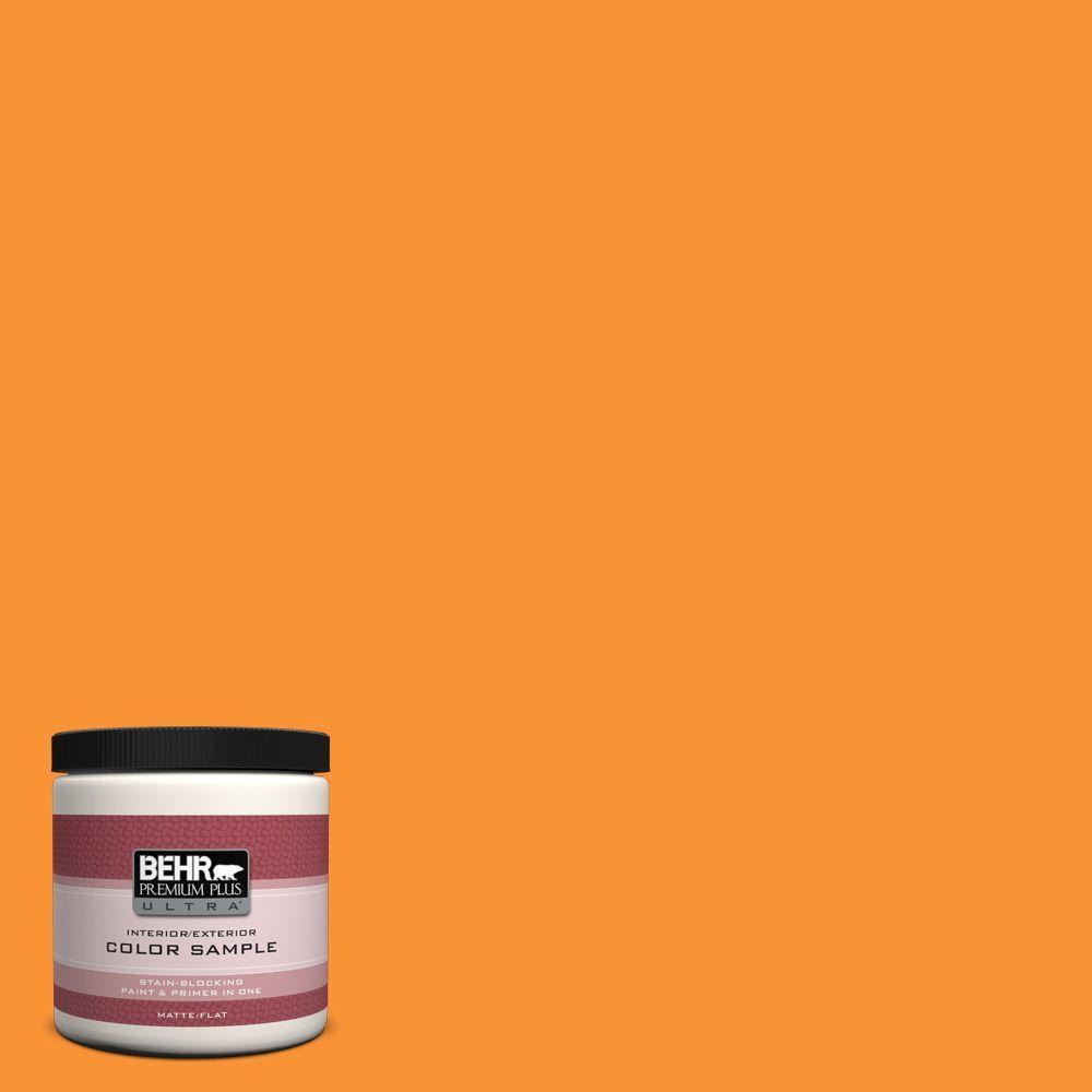 8 oz. #P240-7 Joyful Orange Interior/Exterior Paint Sample