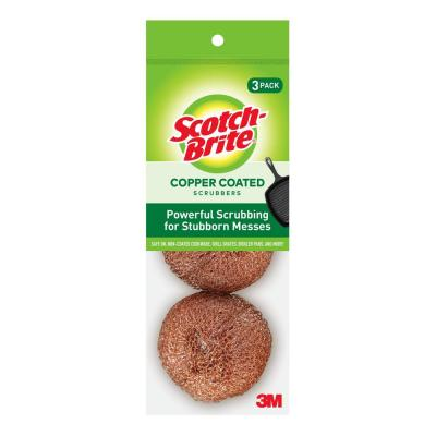 2.8 in. Copper Coated Scouring Pad (3-Pack)