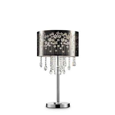 28.5 in. Floral Blooms Crystal Table Lamp