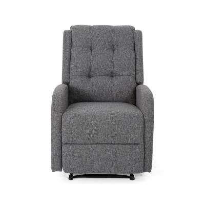 c8d0ba049194 O Leary Modern Tufted Back Charcoal Tweed Fabric Recliner · New Noble House  ...