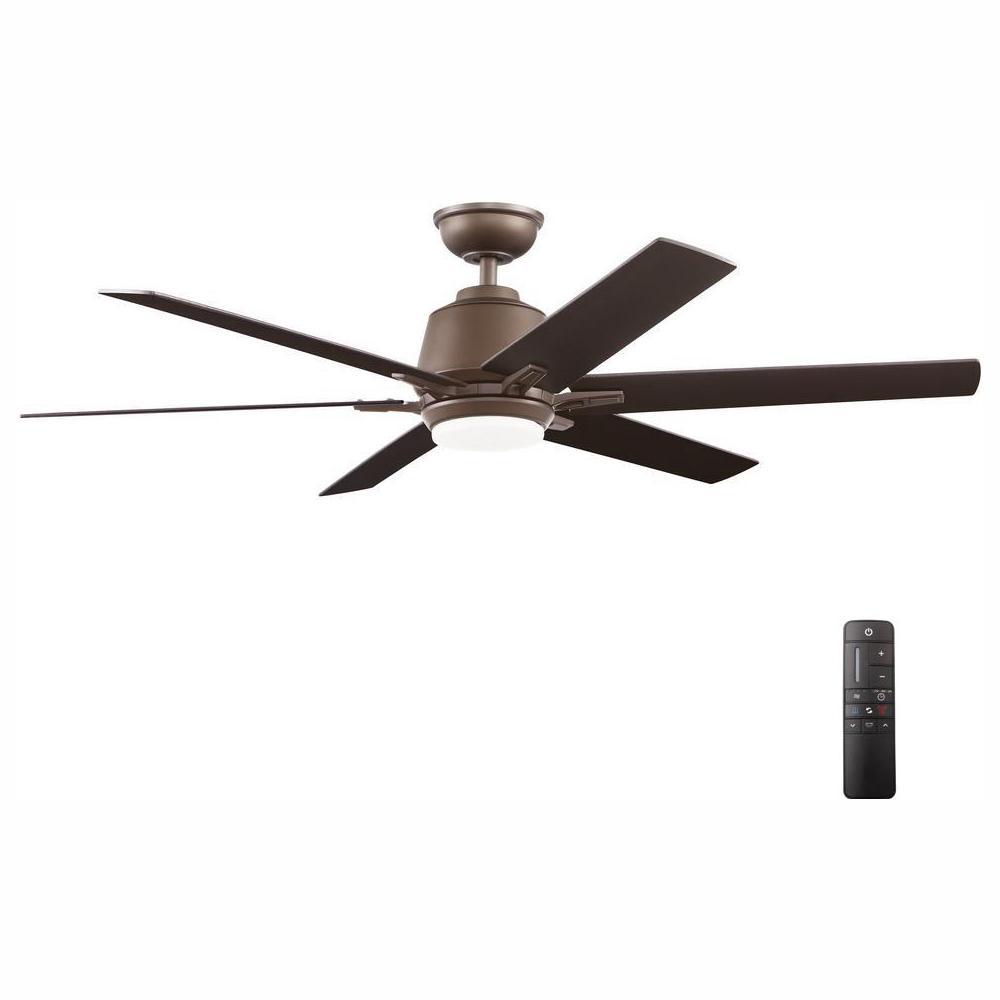 HomeDecoratorsCollection Home Decorators Collection Kensgrove 54 in. Integrated LED Indoor Espresso Bronze Ceiling Fan with Light Kit and Remote Control