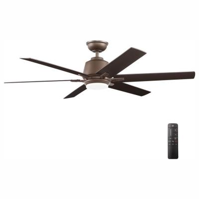 Kensgrove 54 in. Integrated LED Indoor Espresso Bronze Ceiling Fan with Light Kit and Remote Control